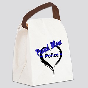 Proud Police Mom Canvas Lunch Bag