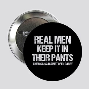 """Anti Open Carry Humor 2.25"""" Button"""