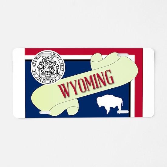 Wyoming Scroll Aluminum License Plate