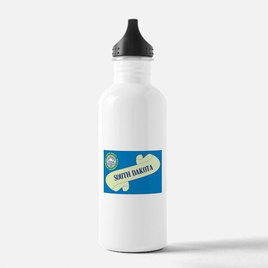 South Dakota Scroll Water Bottle