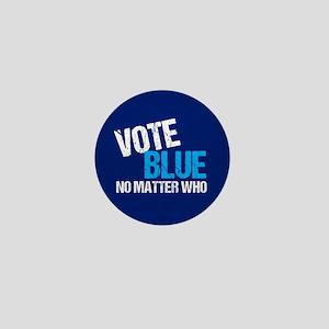Vote Blue Democrat Mini Button