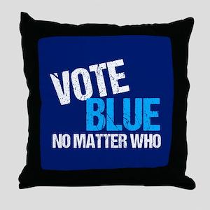 Vote Blue Democrat Throw Pillow