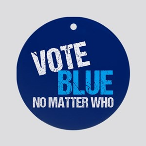 Vote Blue Democrat Round Ornament