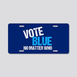 Vote Blue Democrat Aluminum License Plate
