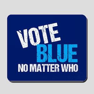 Vote Blue Democrat Mousepad