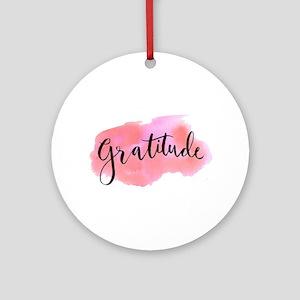 Gratitude Round Ornament
