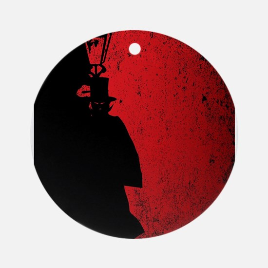 Vampire Grunge Round Ornament