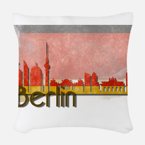 Berlin Germany -Deutschland Woven Throw Pillow