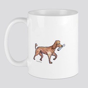 """""""Poodle with Paper"""" Mug"""
