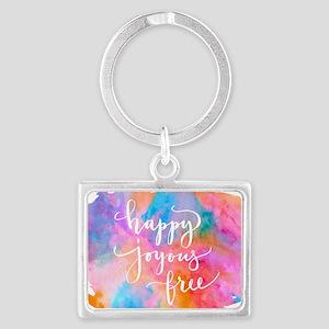 Happy Joyous Free Keychains
