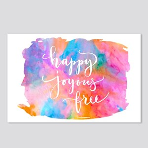 Happy Joyous Free Postcards (package Of 8)
