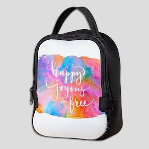 Happy Joyous Free Neoprene Lunch Bag
