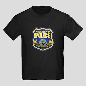 Philadelphia police gifts cafepress philly pd masons kids dark t shirt negle Gallery