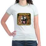 Yeshua, The Lion Of Judah Jr. Ringer T-Shirt