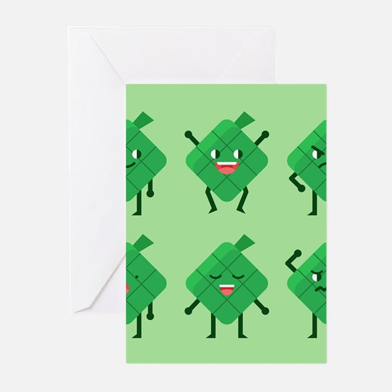 kawaii Ketupat Greeting Cards