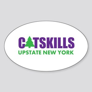 CATSKILLS - UPSTATE NEW YORK Sticker (Oval)