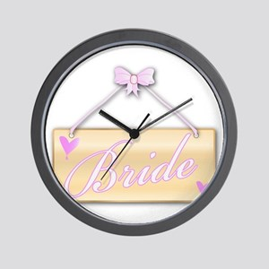 Bride Sign Wall Clock