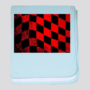 Dirty Chequered Flag baby blanket