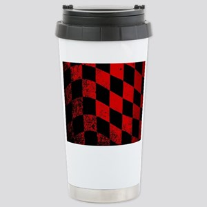 Dirty Chequered Flag Stainless Steel Travel Mug