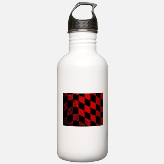 Dirty Chequered Flag Water Bottle