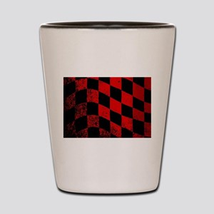 Dirty Chequered Flag Shot Glass