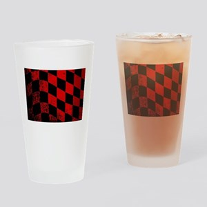 Dirty Chequered Flag Drinking Glass