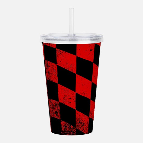 Dirty Chequered Flag Acrylic Double-wall Tumbler