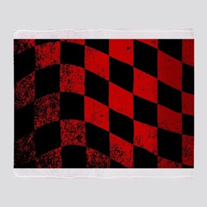 Dirty Chequered Flag Throw Blanket