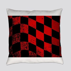 Dirty Chequered Flag Everyday Pillow