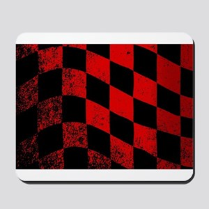 Dirty Chequered Flag Mousepad