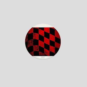 Dirty Chequered Flag Mini Button
