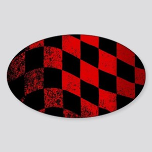 Dirty Chequered Flag Sticker