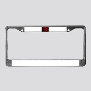 Dirty Chequered Flag License Plate Frame