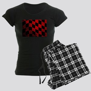 Dirty Chequered Flag Women's Dark Pajamas