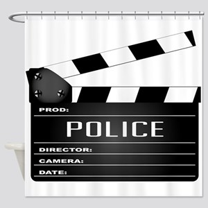 Police Clapperboard Shower Curtain