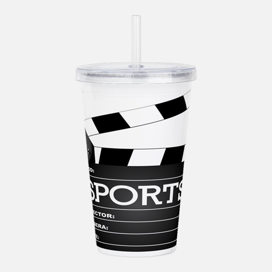 Sports Clapperboard Acrylic Double-wall Tumbler