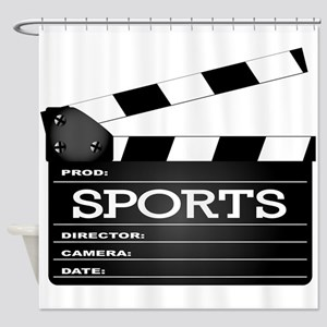 Sports Clapperboard Shower Curtain