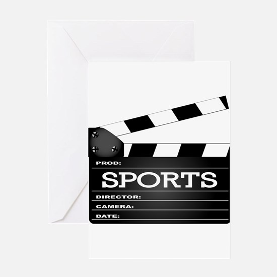 Sports Clapperboard Greeting Cards