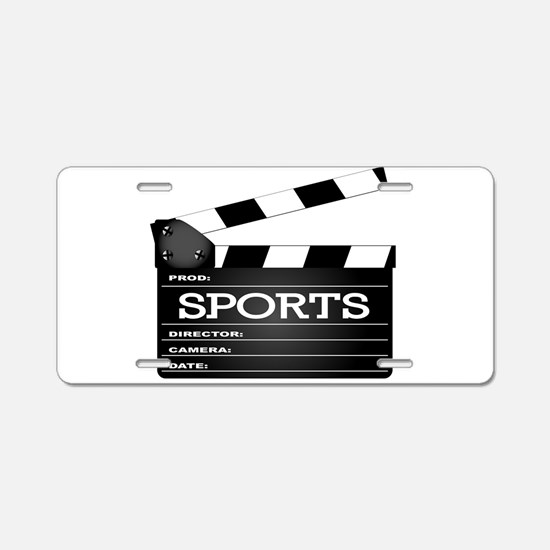 Sports Clapperboard Aluminum License Plate