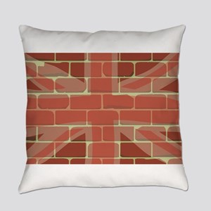 Union Jack Sprayed on a Wall Everyday Pillow