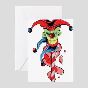 Joker tattoo greeting cards cafepress joker on a stick greeting cards m4hsunfo