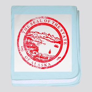 Alaska Seal Stamp baby blanket