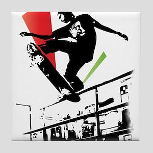 Skater slide Tile Coaster