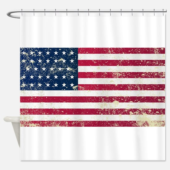 Union Civil War Flag Shower Curtain