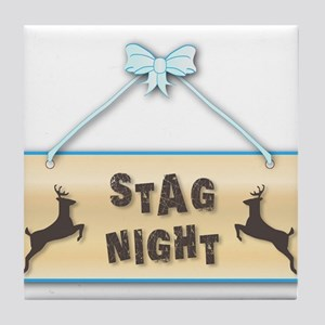 Stag Night Tile Coaster
