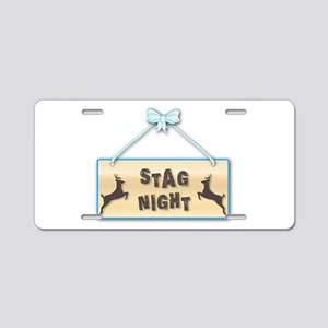 Stag Night Aluminum License Plate