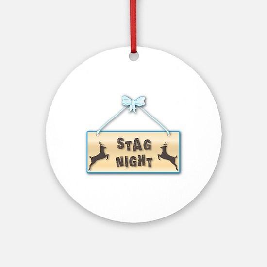 Stag Night Round Ornament