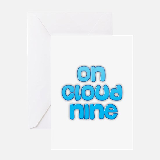 On cloud nine Greeting Cards