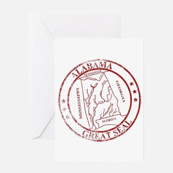 Alabama State Seal Stamp Greeting Cards