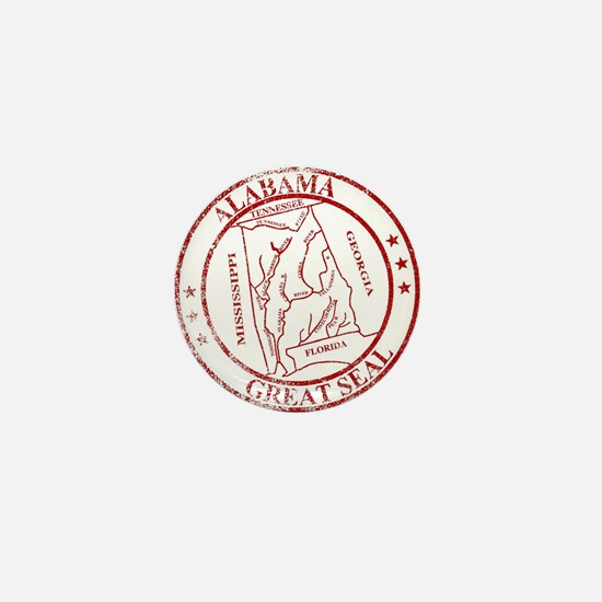 Alabama State Seal Stamp Mini Button